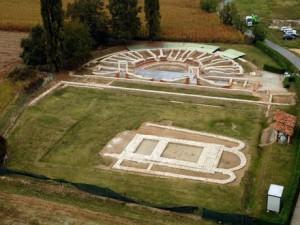 Una delle aree archeologiche romane a Bene Vagienna