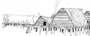 Ipotesi ricostruttiva delle palafitte del lago Viverone