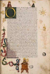 """Pagina miniata con la """"Predica di San Bernardino"""""""