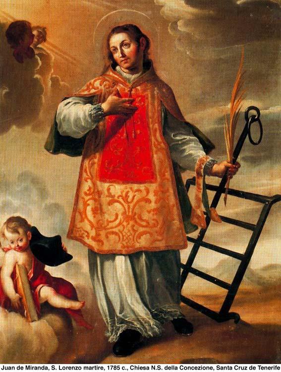 San lorenzo Martire e la graticola