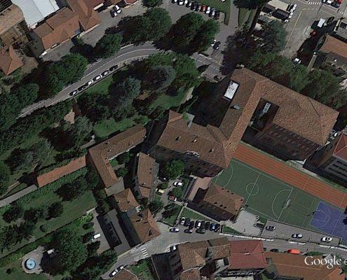 L'area del Giardino di archeologia sperimentale vista dall'alto